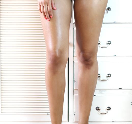 Schimmernde Beine