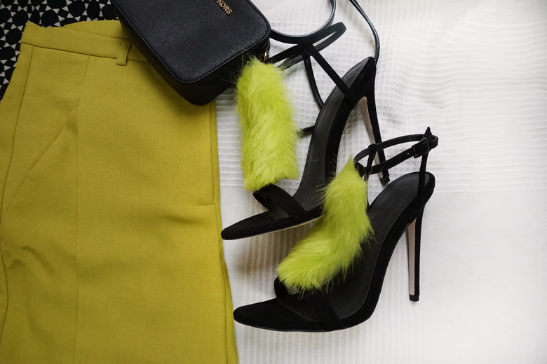 Black and Lime Outfit