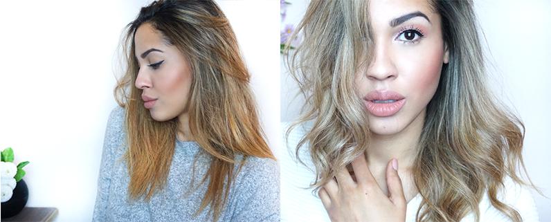 Haare blond farben vorher nachher