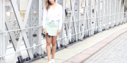 Mint Leather Skirt