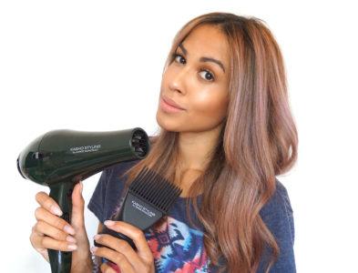 Wet To Straight Hair Routine | Haare glätten mit dem Kasho Styling Haartrockner