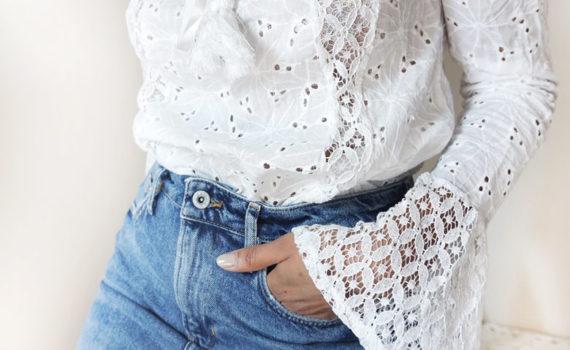 Off Shoulder Crochet Blouse